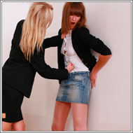 Two office fights - Inga vs Olga