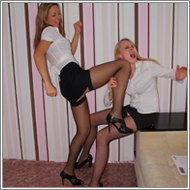Office catfight - Nastja vs Caty