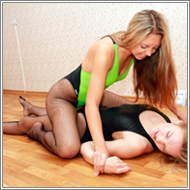 Apartment wrestling - Caty vs Emily