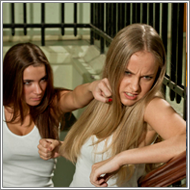 Fight on the Stair - Amanda vs Olesia