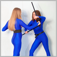 Stickfighting - Amanda vs Olesia