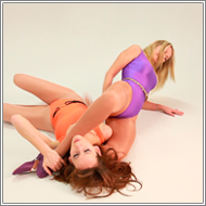 Wrestling Match in studio - Marta vs Olga - HD