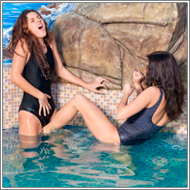Fight in Swimming pool - Mela vs Olesia
