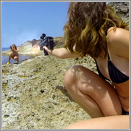Bikini beach shootout – Renee vs Blanca - HD