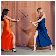 Sword Fight  - Laura vs Olesia