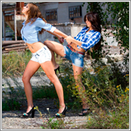 Cowgirls Catfight - Viktoria vs Sammy