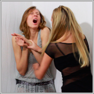 Catfight in short dresses - Marta vs Olga - HD
