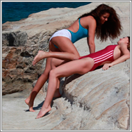 Catfight on rocky beach – Lexxi vs Renee - HD