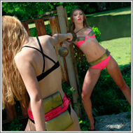 Outdoor Rapier Duel - Darcy vs Daisy
