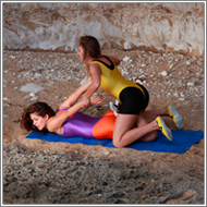 Wrestling match in the rocks – Blanca vs Lexxi