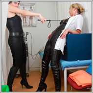 Leather clad Nurses - Olga vs Lara