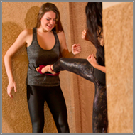 Catfight in Leggings - Natasha vs Jessi