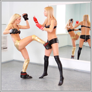 Kickboxing Fight - Laura vs Irene - HD