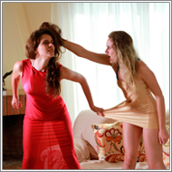 Catfight in summer dresses – Blanca vs Lexxi