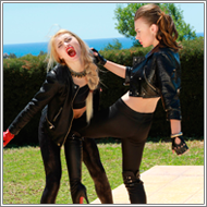 Tough gang girls battle – Laura vs Renee