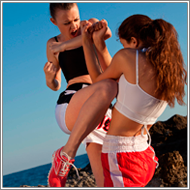 Outdoor Kickboxing fight – Lexxi vs Renee