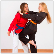 Karate self-defense fight – Jillian vs Sabrina