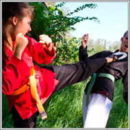 Outdoor karate fight – Vera vs Sabrina