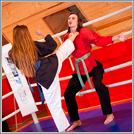 JuJutsu fight in the ring – Danni vs Fiona