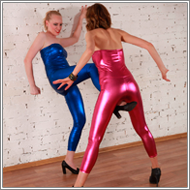 Catsuits catfight – Marta vs Nastja