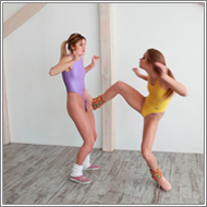 Kicking brawl – Irene vs Laura – HD