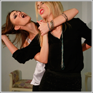 Catfight in short dresses - Renee vs Vera
