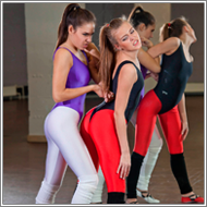 Fitness clash in studio – Sabrina vs Claire