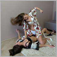 SCR141 - Pillow catfight - Fiona vs Tess