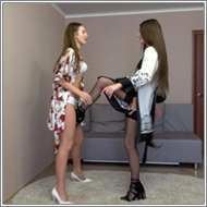 SCR143 - Crotch kicking fight - Fiona vs Tess