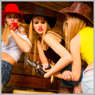 3way Cowgirls catfight – Elena, Jillian, Maya